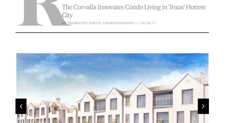 IN THE NEWS: See what publications have said about The Corvalla in one place
